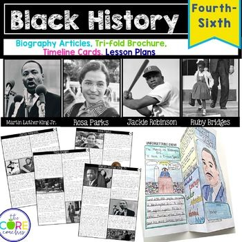 Study four heroes of the Civil Rights Movement through these engaging lesson plans.  This unit includes individual texts for Martin Luther King, Jr., Ruby Bridges, Rosa Parks, and Jackie Robinson.  Using clues from life event timeline cards, students discover that they will be studying about Martin Luther King, Jr.  They participate in several reading, research, discussion, and note-taking sessions to complete a culminating trifold brochure about his life ...