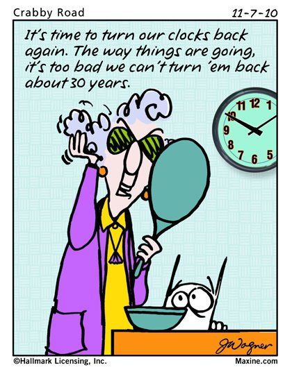 It's time to turn our clocks back again. The way things are going it's too bad we can't turn 'em back about 30 years.