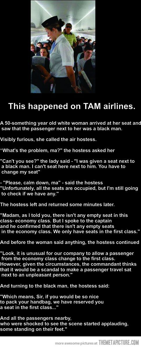 Never heard of TAM Airlines, but it would be awesome if the story really went this way.