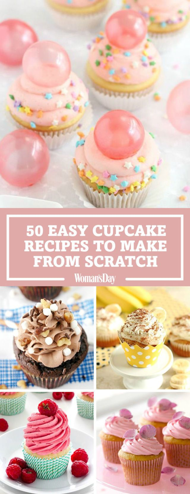 Save these easy cupcake recipes for later by pinning this image and follow Woman's Day on Pinterest for more.