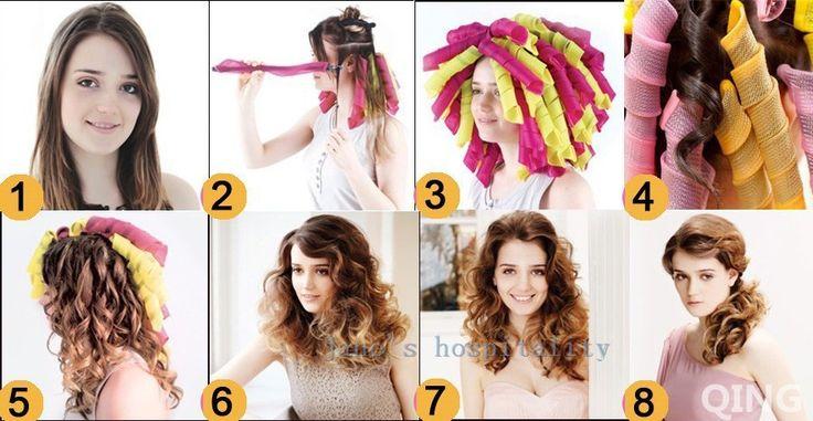 Bigoudis 30 cm longues 18 pcs + 2 crochets cheveux rouleaux outils de coiffage de gros outils papillotes aucun dommage outils de salon de coiffure le moins cher dans de sur AliExpress.com | Alibaba Group