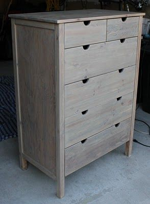 how to get the weathered finish for the boys' furniture.  yay!