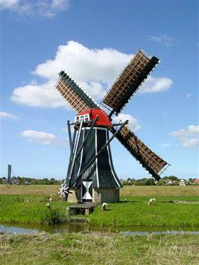 Polder mill Langwert, Winsum, The Netherlands