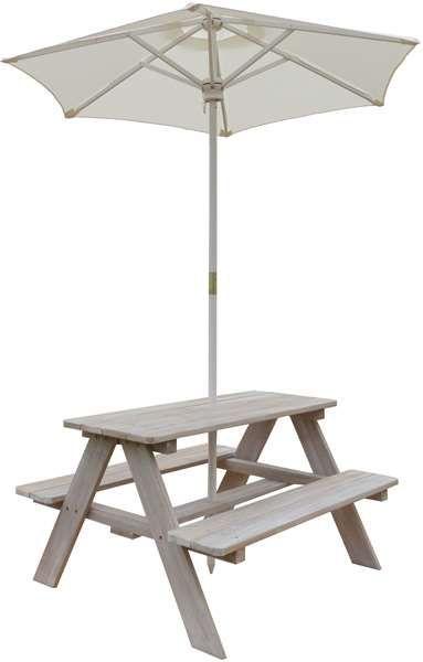 Jox Furniture, Picknickbord med parasoll, Grå