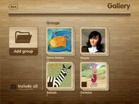 Memoria: Skapa memoryspel med egna bilder, ljud och text. Repetera de ord som ingår i ett visst tema.