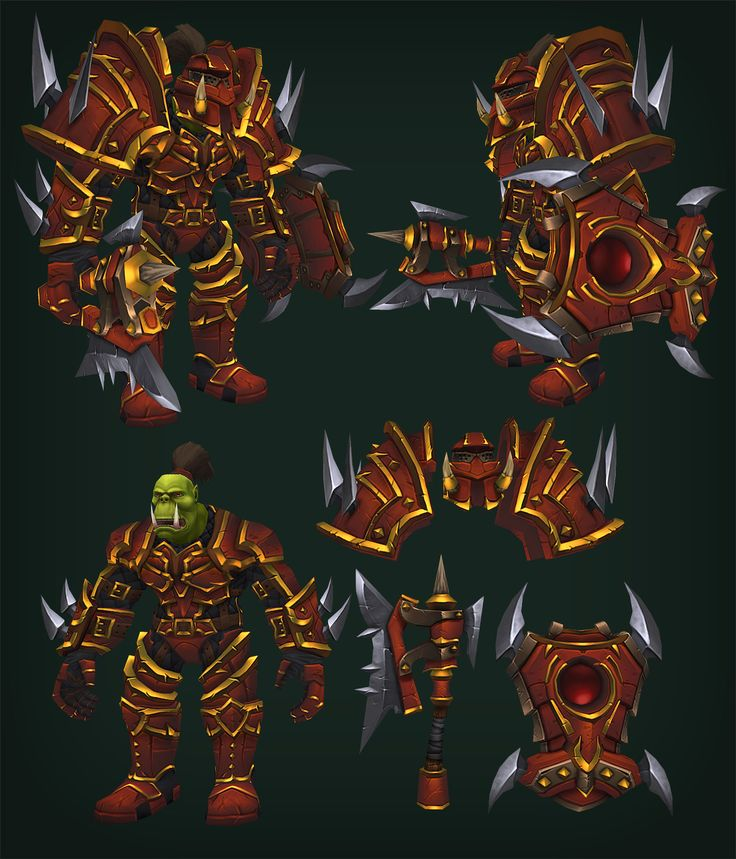 Orc Warrior - WoW fan art - Polycount Forum