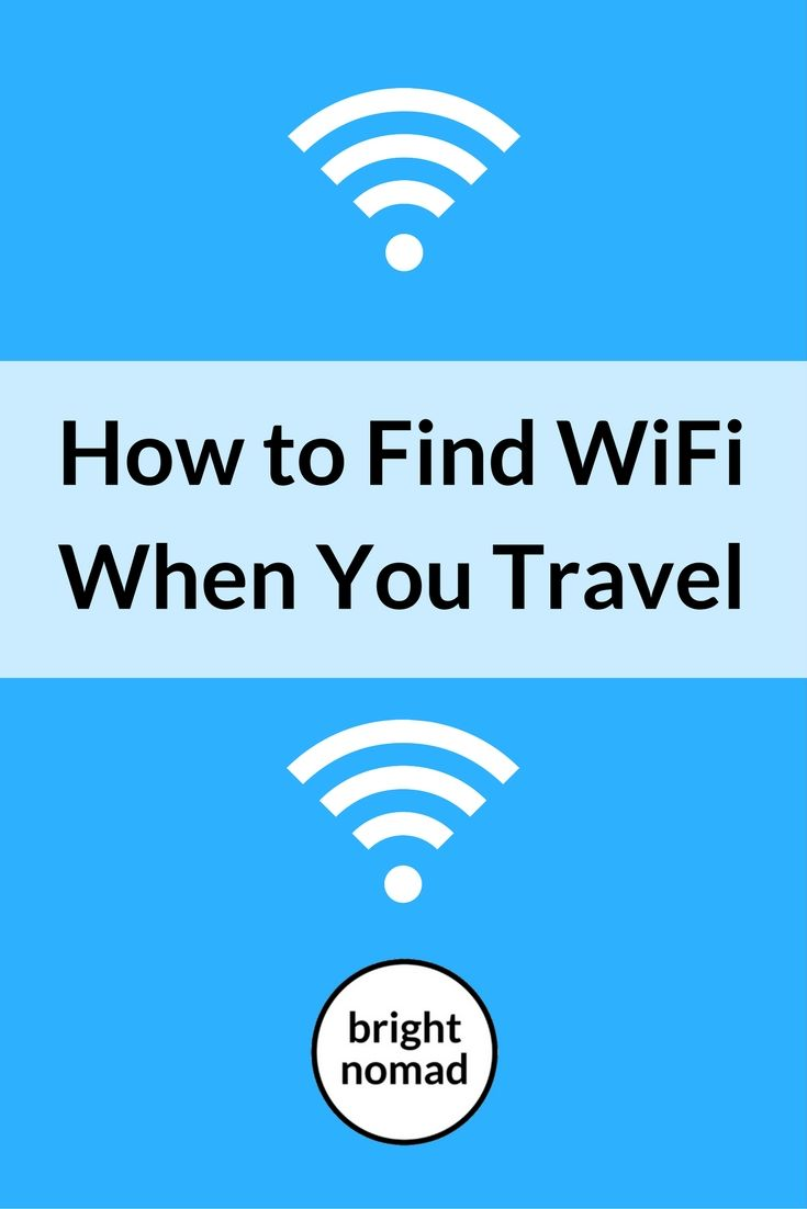How to Find WiFi When You Travel - Bright Nomad http://brightnomad.net/how-to-find-wifi-when-you-travel/