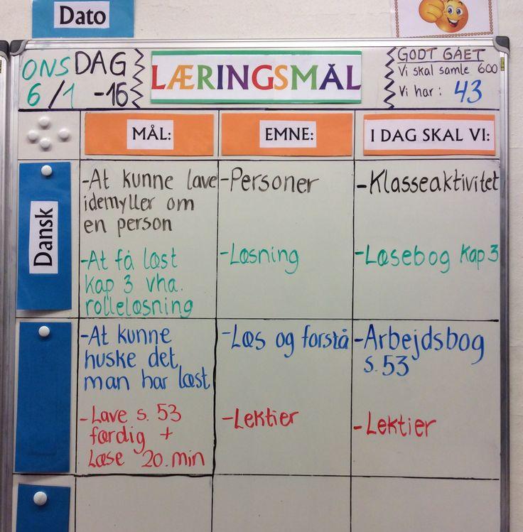 """Dagens læringsmål i dansk i min 3. Klasse. Vi er påbegyndt arbejdet med person-beskrivelser... Idag var det mig der var i """"den varme stol"""" ;-)"""