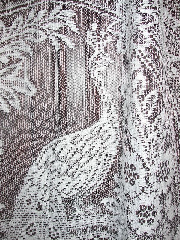 Vintage Victorian French Country Net Floral Lace Bird Peacock Shower Curtain Ebay Vintage