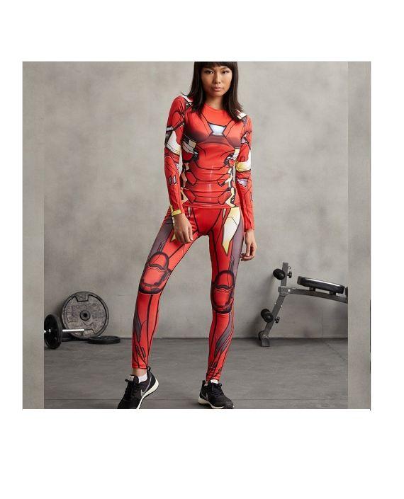 Iron Man Leggings #Superhero #supergirls #leggings #Marvel #ironman #fitness #girl