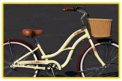 Aluminum Alloy Anti-Rust Frame, Fito Brisa Alloy 3-speed - Mocha & Wicker Basket, women's Beach Cruiser Bike Bicycle, Shimano Nexus Equipped - http://www.bicyclestoredirect.com/aluminum-alloy-anti-rust-frame-fito-brisa-alloy-3-speed-mocha-wicker-basket-womens-beach-cruiser-bike-bicycle-shimano-nexus-equipped/