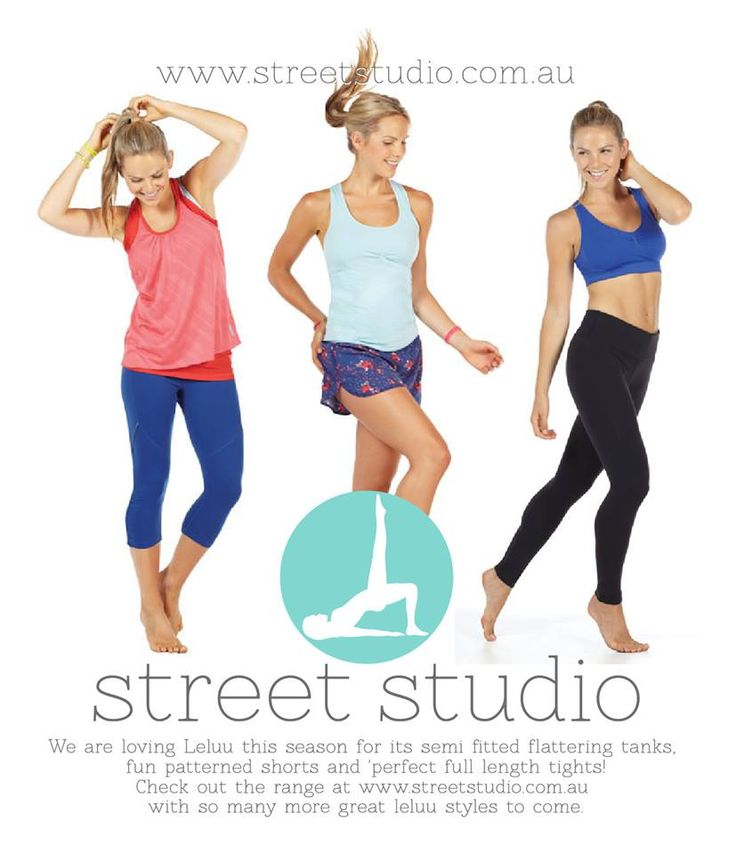 Gym, Pilates,Yoga and Running clothes & Accessories. Available instore @ streetstudio.com.au