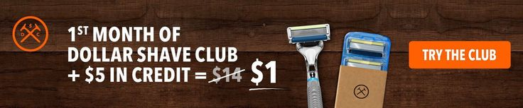 Dollar Shave Club $1  $5 credit for additional spending #LavaHot http://www.lavahotdeals.com/us/cheap/dollar-shave-club-1-5-credit-additional-spending/154569?utm_source=pinterest&utm_medium=rss&utm_campaign=at_lavahotdealsus