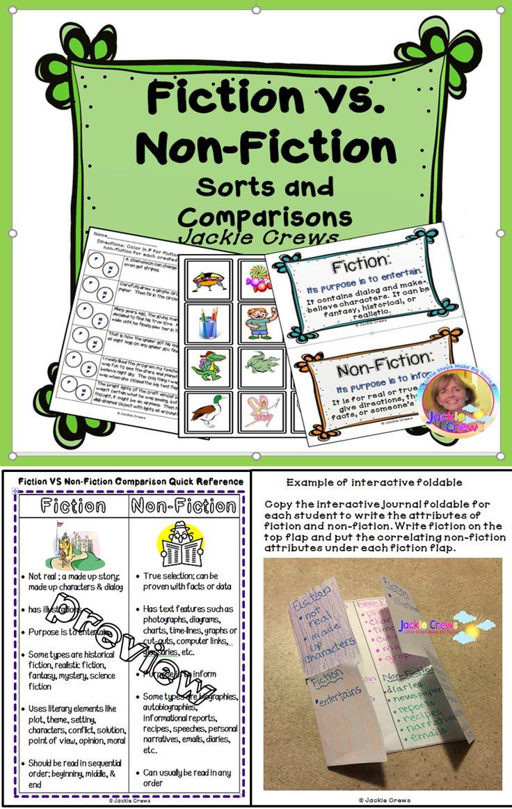 Worksheets Fiction Vs Nonfiction Worksheet worksheet fiction vs nonfiction fun luizah and 1000 ideas about on pinterest