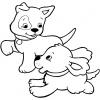 Disegno di Cuccioli di Cane  da colorare