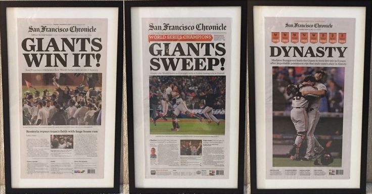 Framed 2010, 2012, 2014 San Francisco Giants World Series Newspaper SF Chronicle- i have to frame my husbands newspapers