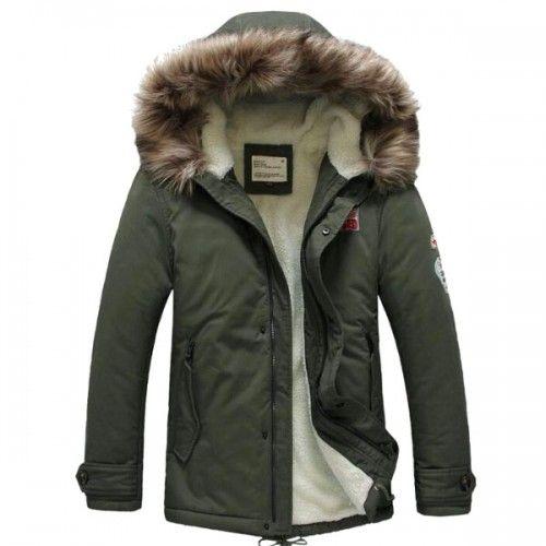 Manteau a capuche pour homme