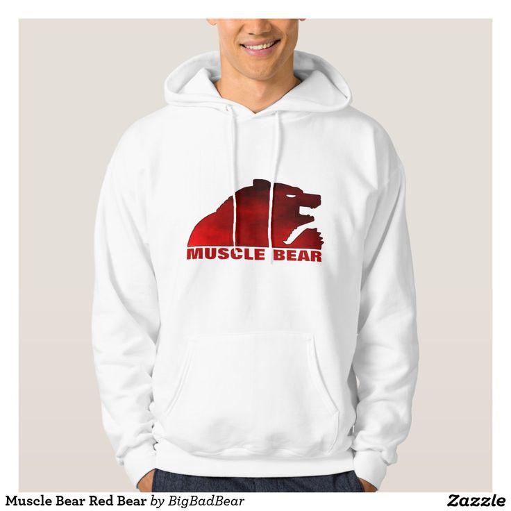 Muscle Bear Red Bear Hoodie