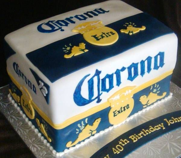 Beer Cake Design Ideas : Corona Beer Cake Corona Pinterest Corona, Cakes and ...