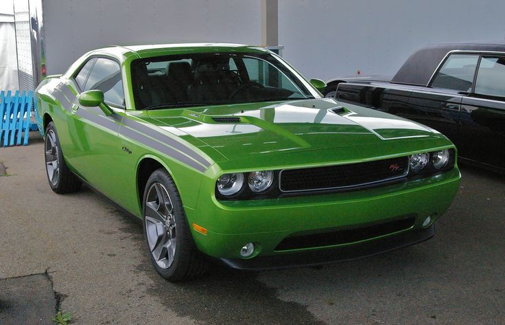 2011 Challenger R/T Classic - Green with Envy - Black Stripe - photographed at the 2011 Mopar Nationals in Ohio.  https://flic.kr/p/axTsiW | IMGP0501 | 2011 Challenger R/T Classic - Green with Envy - Black Stripe
