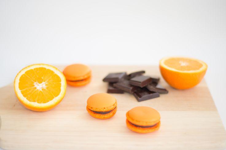 Diva's cake narancsos étcsokis macaron