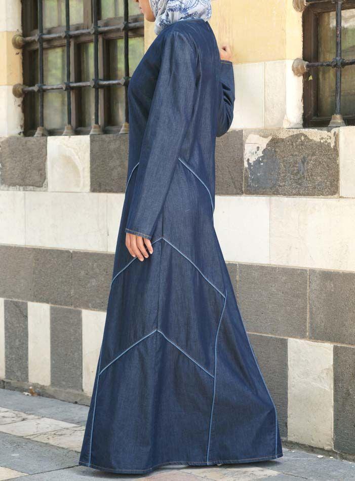 SHUKR USA | Denim Rashiqah Dress