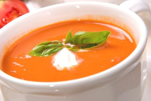 Homemade Tomato Basil Soup < from fresh tomatoes not canned