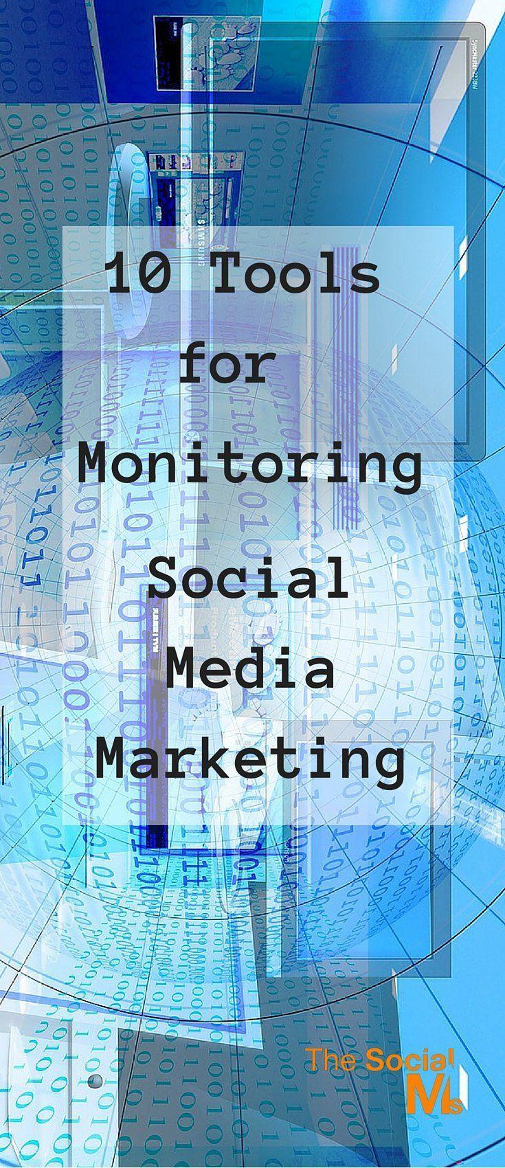 10 Tools for Monitoring Social Media Marketing #SocialMedia #Marketing #Analytics