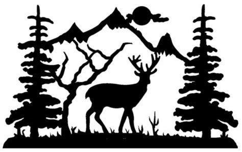 Image Result For Deer Scene Silhouette Clip Art Reindeer