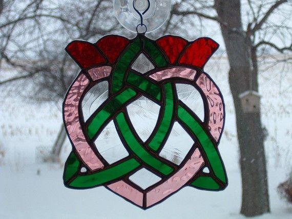 Irish Celtic Heart Suncatcher