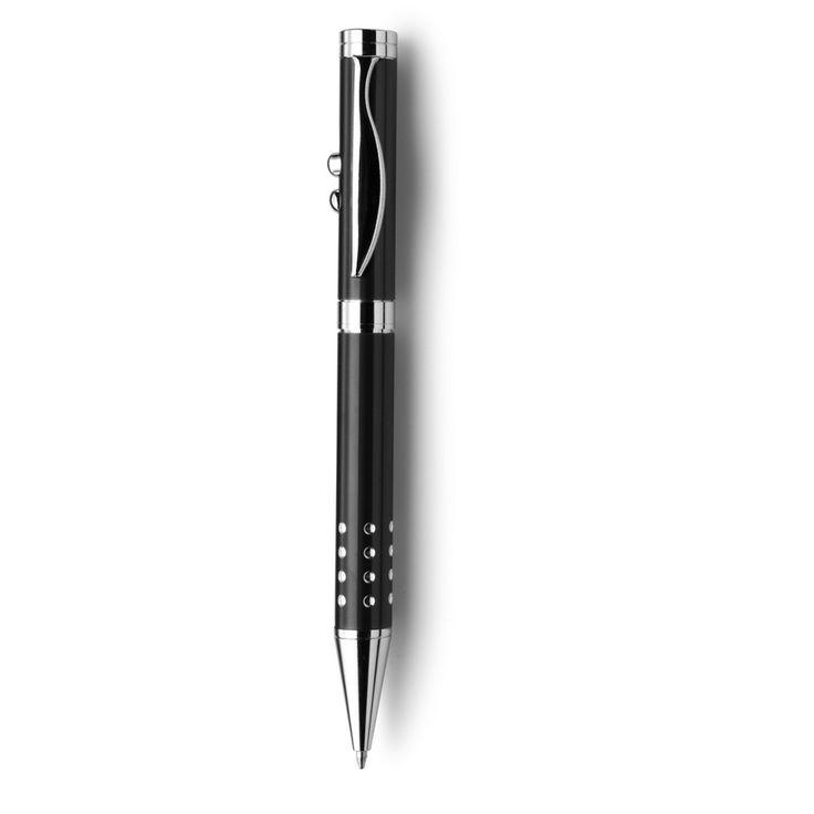 Przekręcany długopis, wskaźnik laserowy, lampka LED