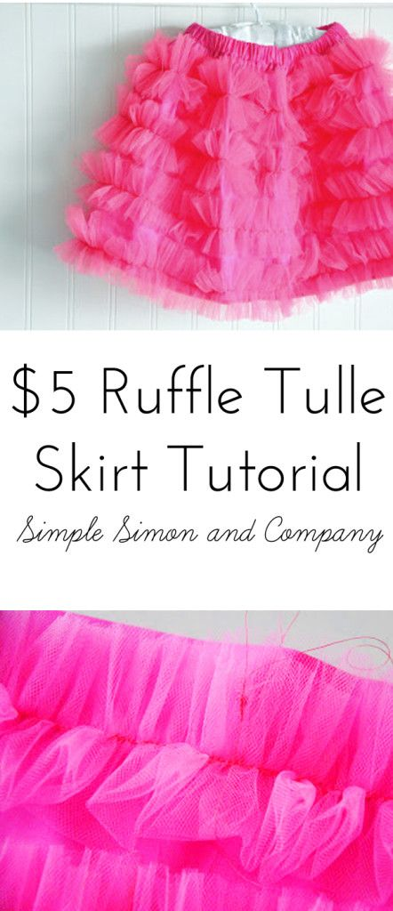 Tulle Ruffle Skirt (I'd make this for my girls AND myself...so adorable!)