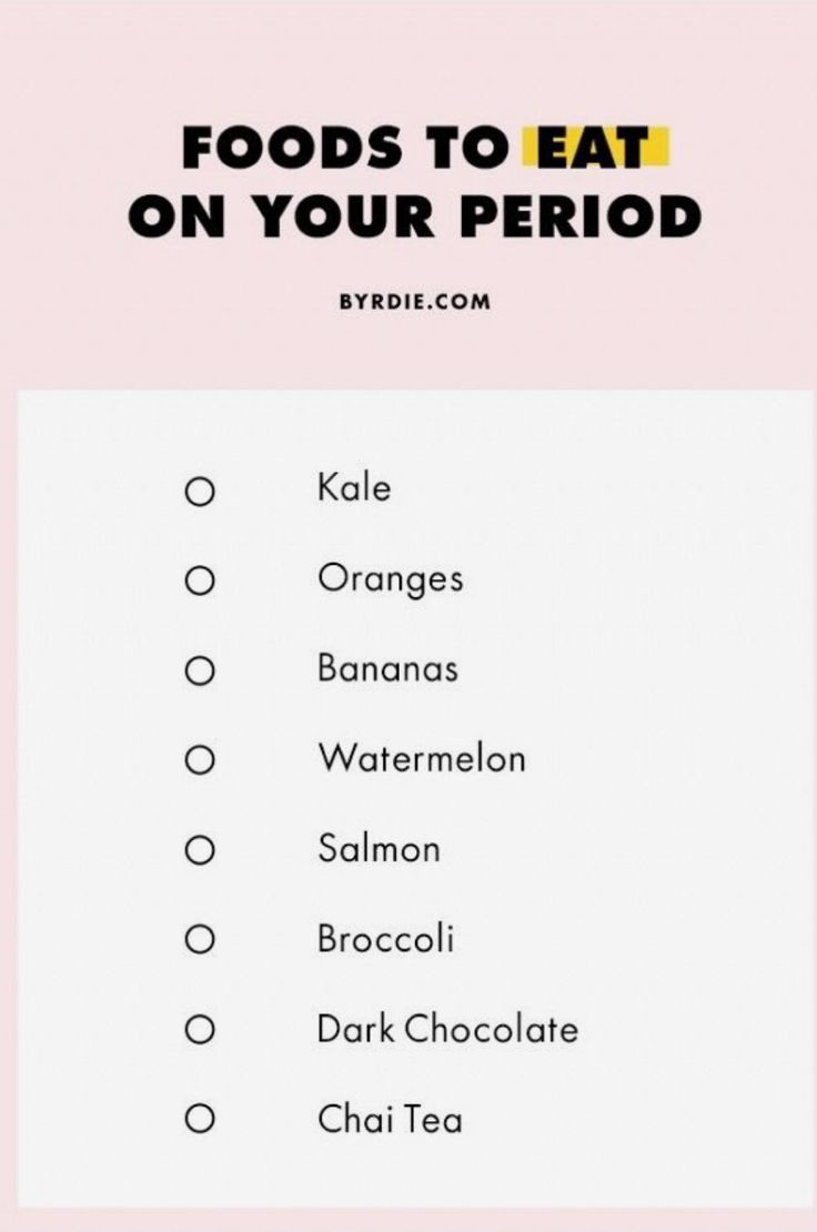 What to eat on your period
