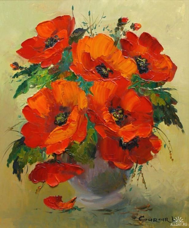 Cross Stitch KIT Poppies in a Vase by William Jabez Muckley by TheArtofCrossStitch on Etsy.