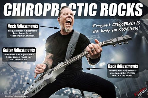 Rock on.Concerts, Chiropractic Stuff, Well Rocks, Guitar Players, Metallica Rocks, Music Festivals, Chiropractic Well, James Hetfield, Chiropractic Rocks