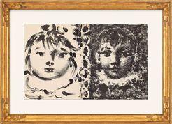 """Pablo Picasso, """"Paloma & Claude"""", 1950http://www.kunsthaus-artes.de/de/766068.R1/Bild-Paloma-Claude-1950/766068.R1.html"""