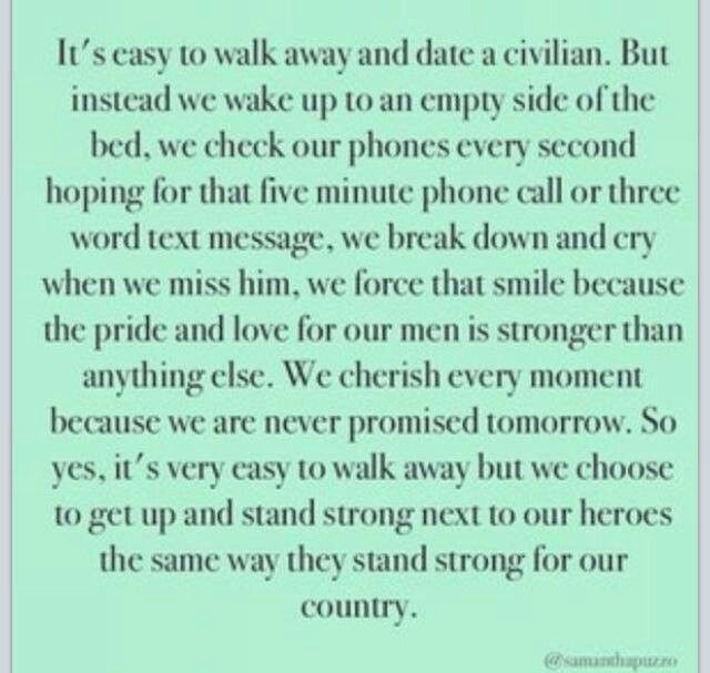 Army. Military. Military Spouse. Love. Deployment quotes. Quotes. Marines. Air force. Navy. Military wife.