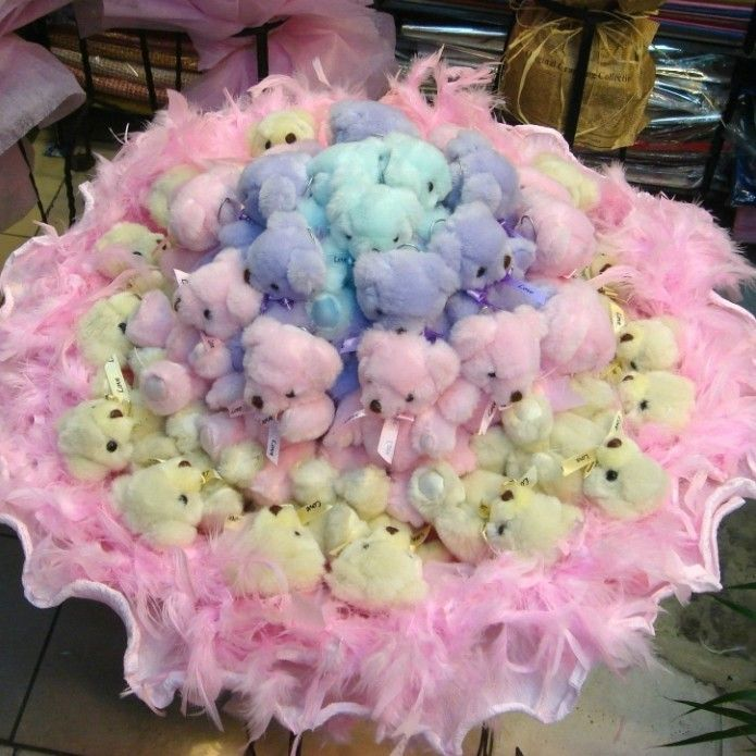36 Teddy Bear Doll Lovers Moved Romantic Gift Birthday Bouquets on EVtoys.com