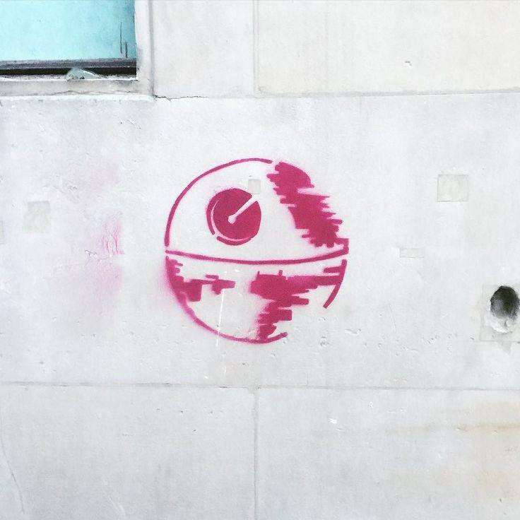 The empire is everywhere #StarWars #deathstar #streetart