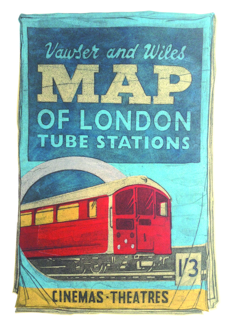 For Arts Sake | Barry Goodman | Map | #art | #print | £595