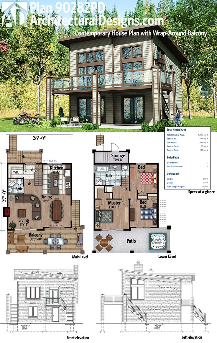 191 best modern house plans images on pinterest modern for Contemporary house plans with lots of windows