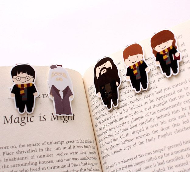 "Why not go for a full set?: | Community Post: 21 ""Harry Potter"" Bookmarks You Won't Be Able To Resist"