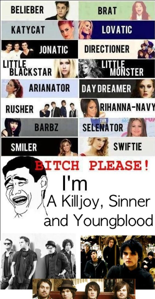 I am a Killjoy, Youngblood and Sinner and in the 5sos fam
