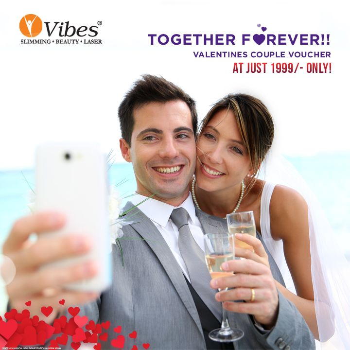 #Vibes is celebrating your #love and togetherness with #Valentines #Couple Voucher. Get the voucher in just Rs 1999 and just like your love, you can both share the services together. Book your appointment now