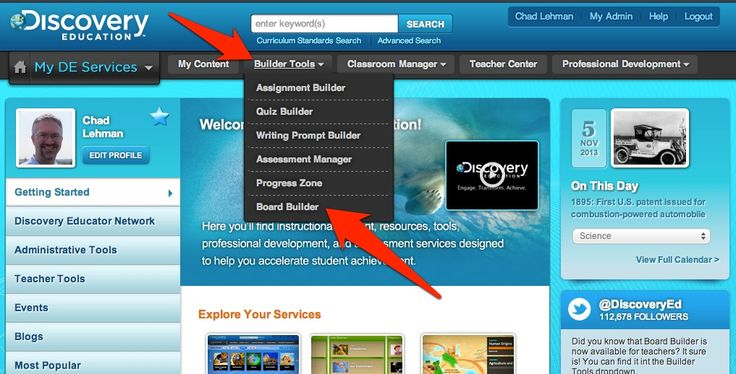 Discovery Education Board Builder - Make your own educational posters