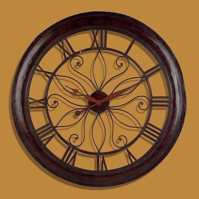 "BellaSoleil.com - 30"" Mediterranean Scroll Wall Clock, $139.97 (http://www.bellasoleil.com/30-mediterranean-scroll-wall-clock/)"