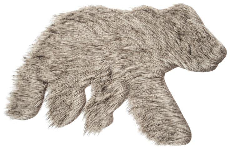 Choubaka bear shape rug / Tapis en forme d'ours