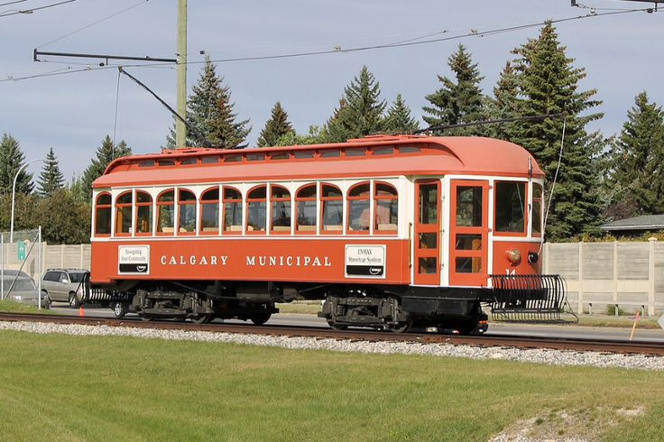 Calgary Transit (retired) and now is used at Calgary Heritage Park, Calgary, Alberta, Canada; Tram CMR #14 tram/14 @railpictures