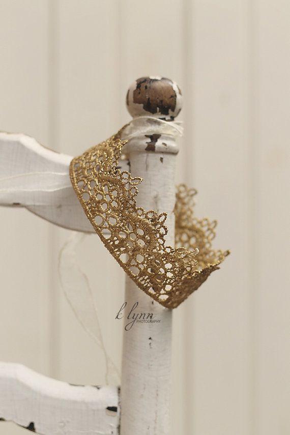 Baby crown,Lace baby crown Newborn crown by polkadotsandsunshine