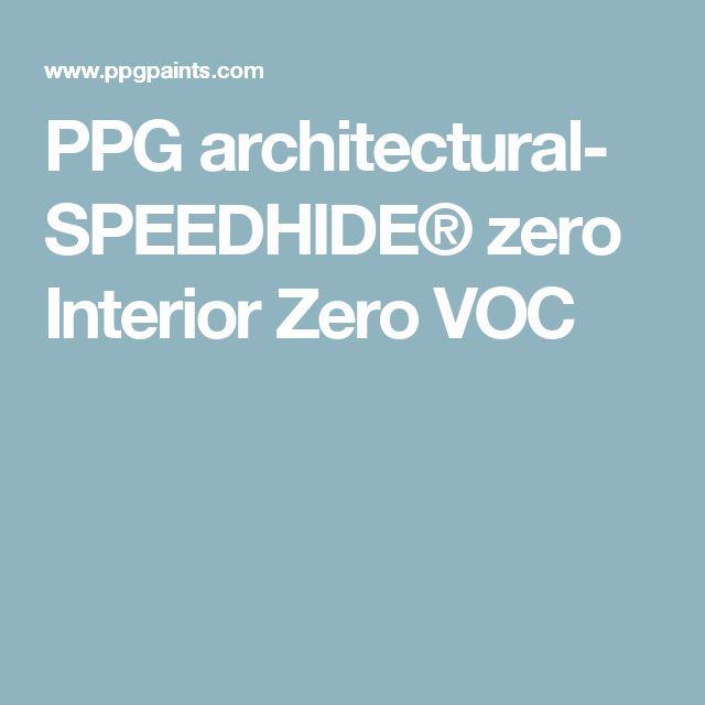 Ppg architectural speedhide zero interior zero voc for Anna sova latex wall paint